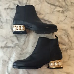 Jeffrey Campbell Pearl Black Booties